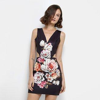 787b74b2b7 Vestido Lança Perfume Tubinho Curto Floral Recorte