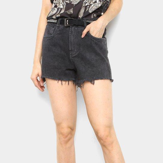 e8b3a596f Shorts Jeans Lança Perfume Hot Pants Feminino - Preto - Compre Agora ...