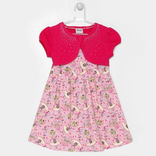 652509294c Vestido Fakini Floral Bolero Infantil - Compre Agora