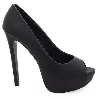 62f031a8b Sapato Peep Toe Feminino de Salto Alto