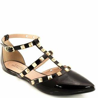 31f90531b0 Sandalia Spikes Envernizada Sapato Show 2101