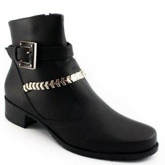 b57af777a6 Bota Bota Detalhes Metalizados Sapato Show