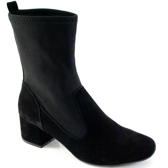 8b0ee767ca Bota Sapato Show Knit Numeração Especial Feminina - Compre Agora ...