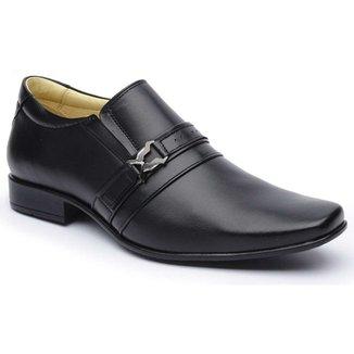 4aadf76a5 Sapato Social DLutty Bico Quadrado Pele de Carneiro masculino