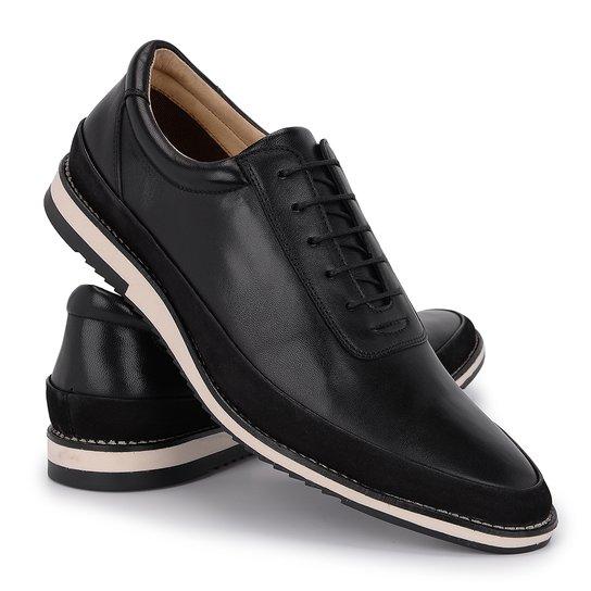 7a5615a80 Sapato Casual Paulo Viera Em Couro Legítimo Masculino 050 - Preto ...