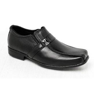 eb59d4575 Sapato Social Infantil Couro Legítimo com Metal Garra