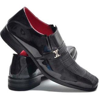 36a3cf17b Sapato Social Garra Verniz Confort Masculino