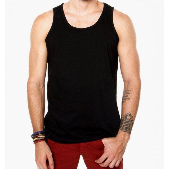 Camiseta Regata Criativa Urbana Lisa Básica - Preto - Compre Agora ... 4ac2272025a