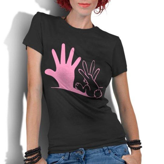 Camiseta Criativa Urbana Engraçadas Divertidas Coelho Sombra - Preto ... 859a153298a