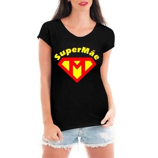 c25bbc8af8 Blusa Criativa Urbana Super Mãe Dia Das Mães T-Shirt Feminina
