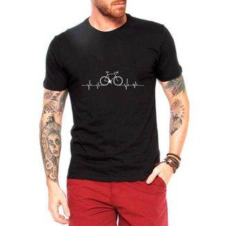 0f5d420332 Camiseta Criativa Urbana Bicicleta Ciclismo Pulsação Masculina