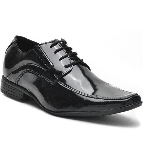 8618683331 Sapato Social Eagle Black Verniz de Amarrar - Compre Agora