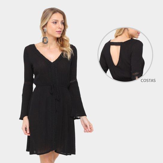 edf286f06 Vestido Lily Fashion Evasê Curto Renda - Compre Agora | Zattini