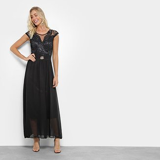 425896edce Vestido Lily Fashion Longo Festa