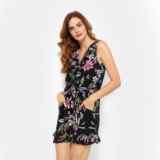 5ce64b3ab Macaquinho Lily Fashion Babado Estampado Feminino - Compre Agora ...