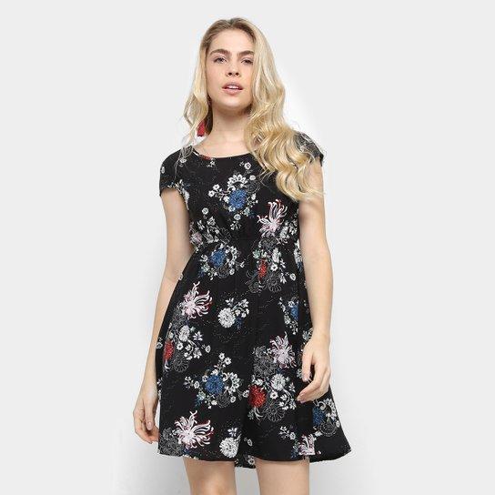 3edcdcf1f Vestido Lily Fashion Evasê Curto Estampado Floral | Zattini
