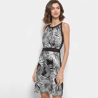 e7abd0ac0 Vestido Lily Fashion Evasê Folhagem Debrum