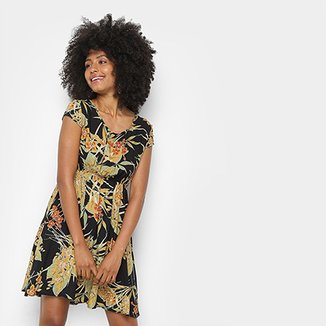 6b5f8f010 Vestido Curto Lily Fashion Tropical Evasê