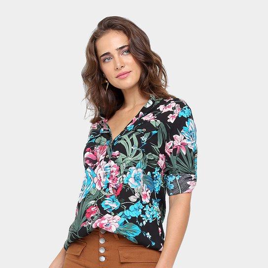 a1caa4f7a Camisa Top Moda Florida Manga Longa Feminina - Compre Agora