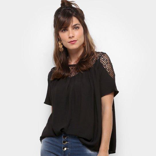 38b19adec Blusa Top Moda Vazada Feminina - Preto - Compre Agora