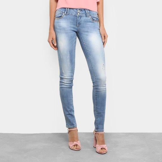 220d1194d Calça Jeans Skinny Yutz Estonada Apliques Feminina - Compre Agora ...