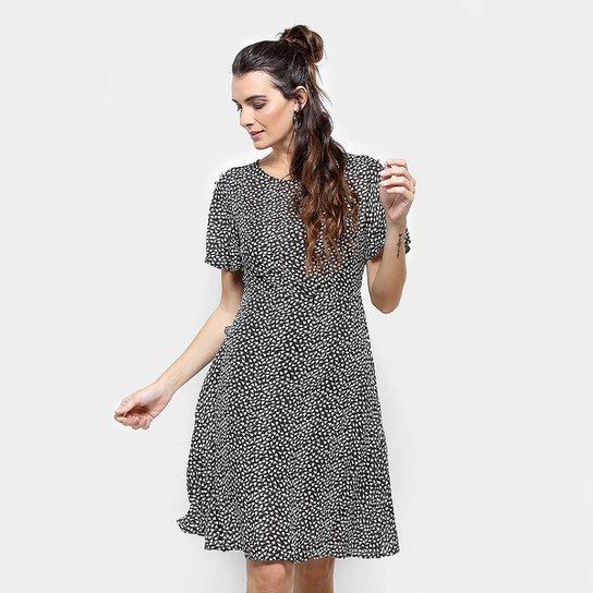 0d8837e81a Vestido Estampado Mixxon Feminino - Preto