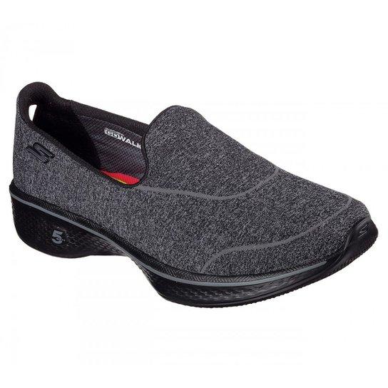 6deb71faf86 Tênis Skechers Go Walk 4 Super Sock Feminino - Preto - Compre Agora ...