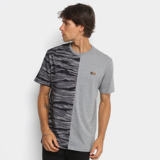 Camiseta MCD Especial Duo Camouflage Masculina - Cinza e Preto ... 5e9d168583c