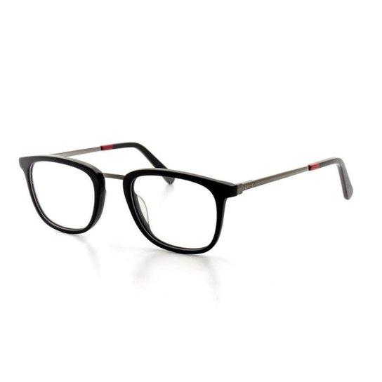 Armação De Óculos De Grau Cannes 3393 T 50 C 1 Masculino - Preto ... 69fb583efe