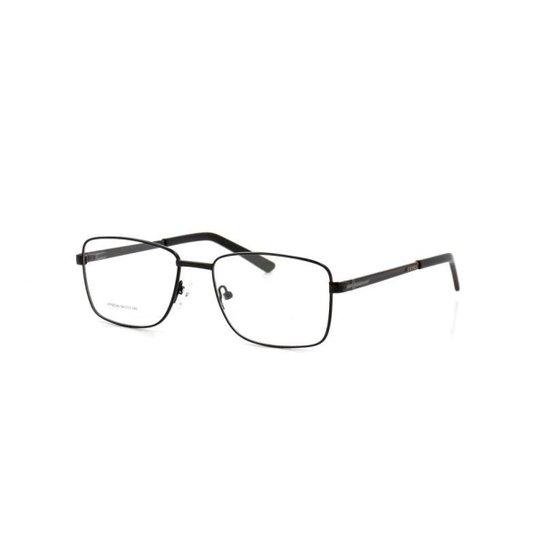 Armação De Óculos De Grau Cannes 66024 T 54 C 1 Metal Masculino - Preto b98ef0d75f
