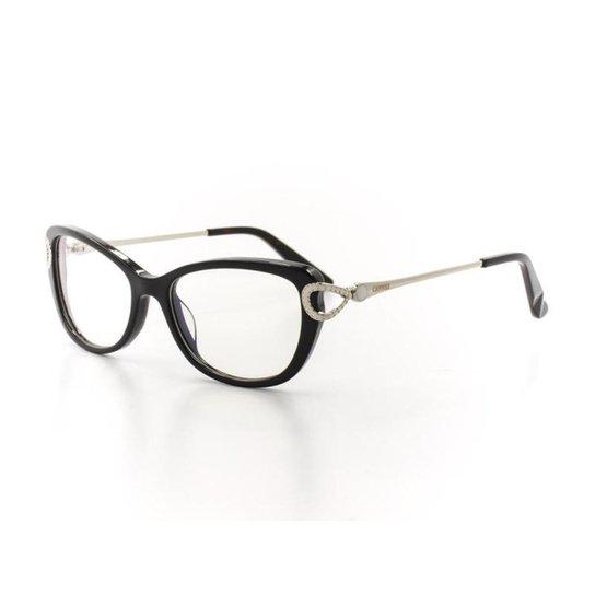 Armação De Óculos De Grau Cannes 7F143 T 51 C 5 Feminino - Preto ... 6350b27238