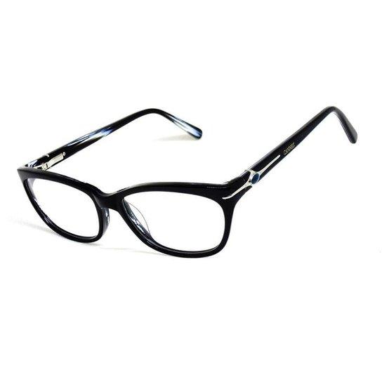 Armação De Óculos De Grau Cannes 8012 T 53 C Icônico Feminino - Preto 6d9aa87544