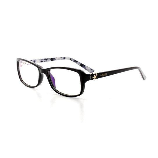 394db99cf5163 Armação De Óculos De Grau Cannes 2278 T 51 C 3 Feminino - Compre ...