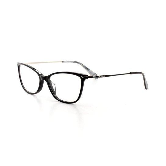 Armação De Óculos De Grau Cannes 2942 T 53 C 1 Gatinho Feminino - Preto 63144ea783
