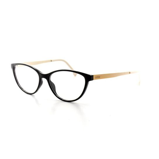 Armação De Óculos De Grau Cannes 5041 T 53 C 945 Feminino - Preto ... 26a3d3100f