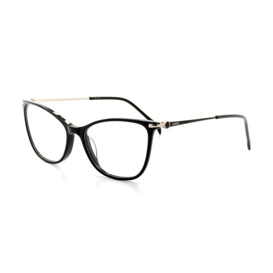 339043cc4 Armação De Óculos De Grau Cannes 3102 T 52 C 1 Feminino Gatinho - Preto
