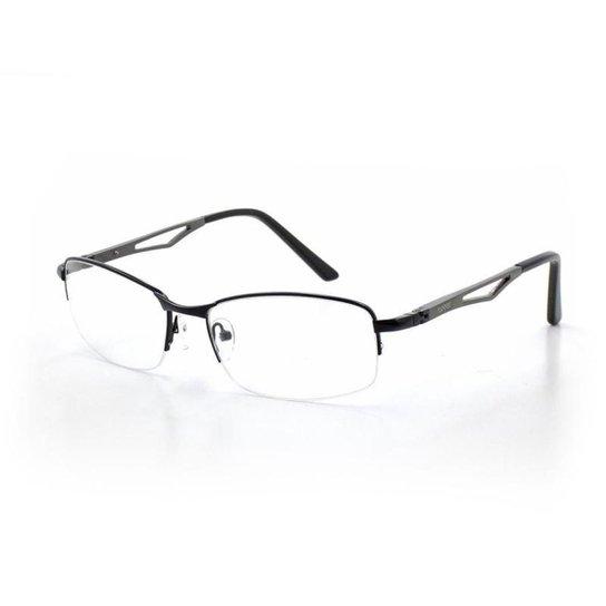 c6dec596928e0 Armação De Óculos De Grau Cannes 80218 T 57 C 1 Masculino Metal - Preto