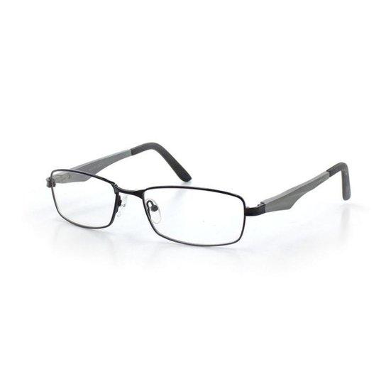 059efbf963344 Armação De Óculos De Grau Cannes 6180 T 55 C 1 Masculino Metal - Preto