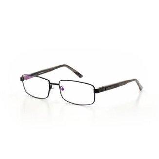 fdc5854d023f3 Armação De Óculos De Grau Cannes 2049 T 55 C 13 Metal Masculino