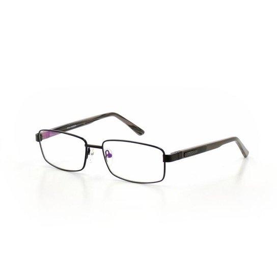 608a78211 Armação De Óculos De Grau Cannes 2049 T 55 C 13 Metal Masculino - Preto