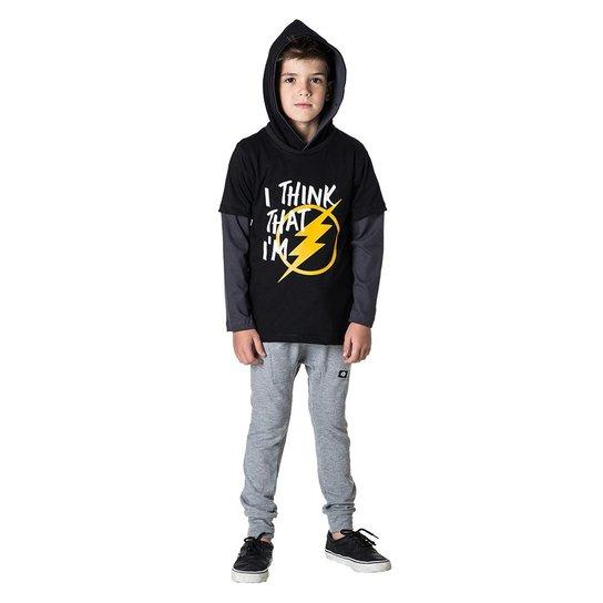 e88d71fd8 Camiseta Capuz Infantil Comfy Flash Masculino - Compre Agora