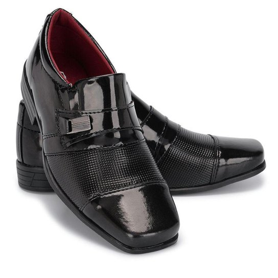 50a042d78 Sapato Social Infantil Masculino Couro Schiareli - Preto - Compre ...