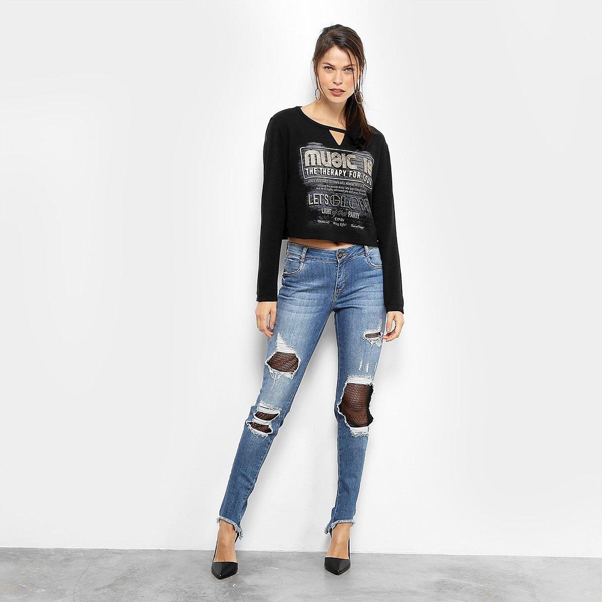715e13b24 Malha Dimy Top Cropped Silk Recorte Feminina | Livelo -Sua Vida com ...