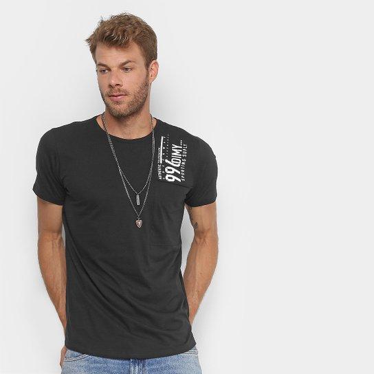 bb68cf915 Camiseta Dimy Long Estampada Masculina - Preto - Compre Agora   Zattini