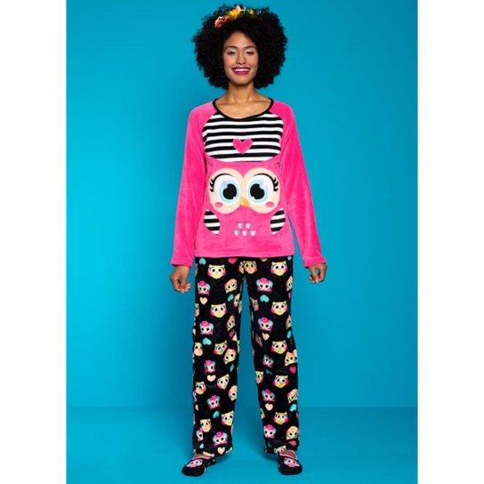 b23ae97cae Pijama Manga Longa Soft Coruja Puket - Compre Agora