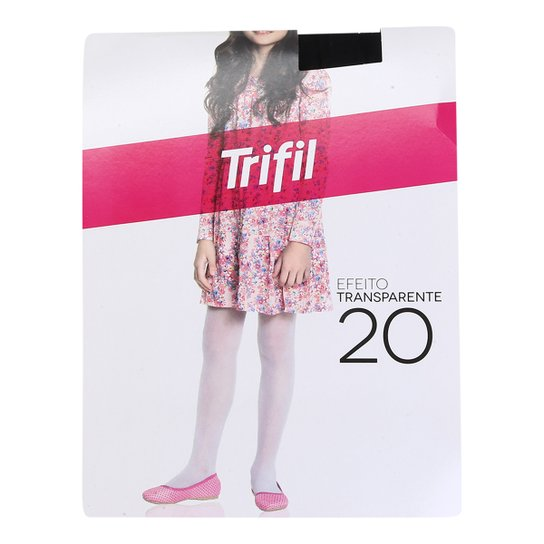 cd705f908 Meia Calça Infantil Trifil Fio 20 - Preto | Zattini