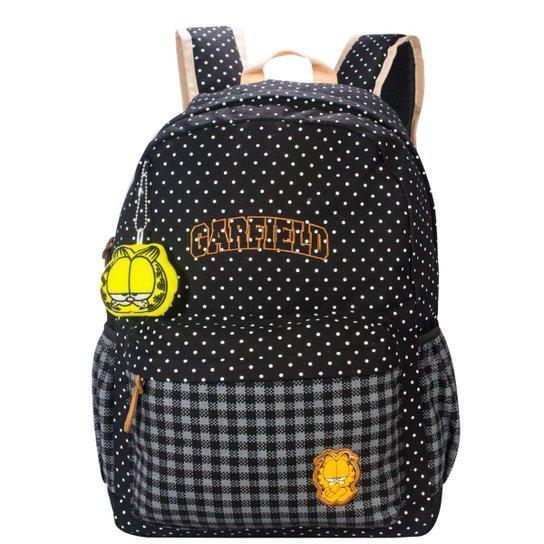 Mochila Infantil Garfield MJ48521GF Feminina - Preto - Compre Agora ... dd3bcba8309