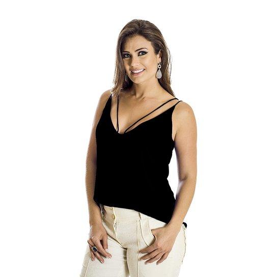 18055e8cc211b Regata Strappy Ana Hickmann - Preto - Compre Agora   Zattini