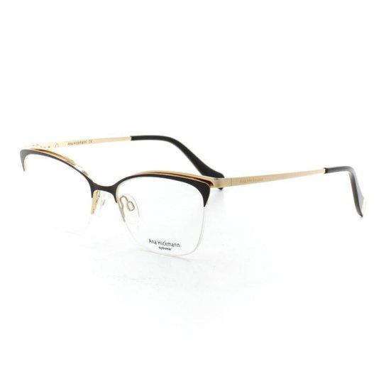 49af8e3b0b6d1 Armação De Óculos De Grau Ana Hickmann 1354 T 52 C 09A Feminino - Preto