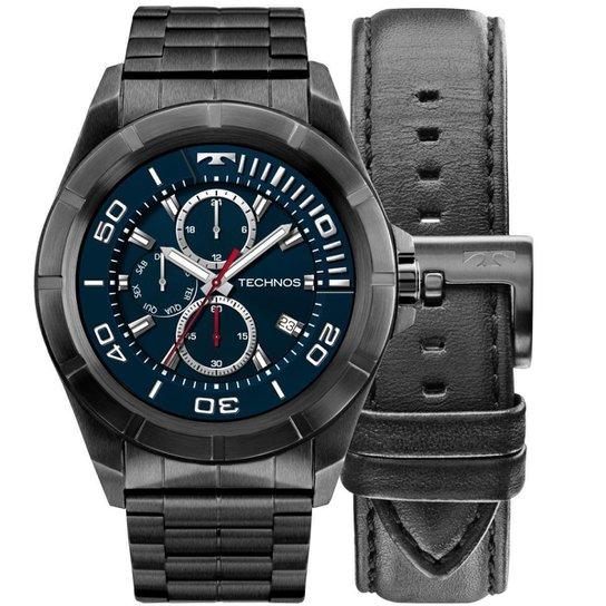 91654269f58 Relógio Masculino Technos Connect SMARTWATCH SRAC 4P Preto - Preto ...